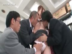 Asian office secretary gets...
